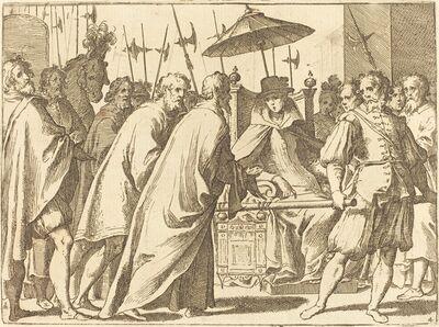 Raffaello Schiaminossi, 'Margaret of Austria Being Carried in a Chaise', 1612