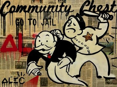 Alec Monopoly, 'Community Chest: Go To Jail', 2016
