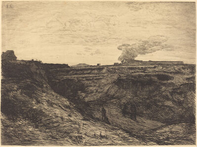 François-Nicolas Chifflart, 'Quarry near Montmartre', 1865