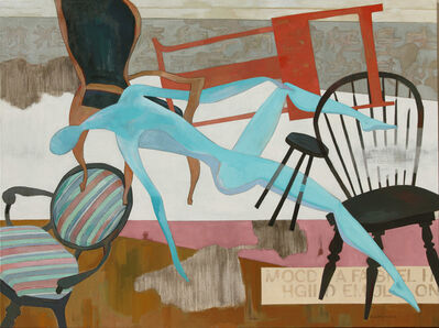 Huang Duo Ling 黄多玲, 'Chair and Figure', 2016