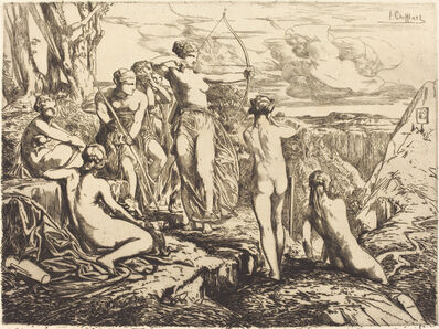 François-Nicolas Chifflart, 'Diana and Her Nymphs', 1865