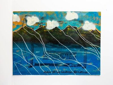 "Iain Baxter&, 'Iain Baxter ""Alpine Skiing Landscape"" Conceptual Monoprint Painting', 20th Century"