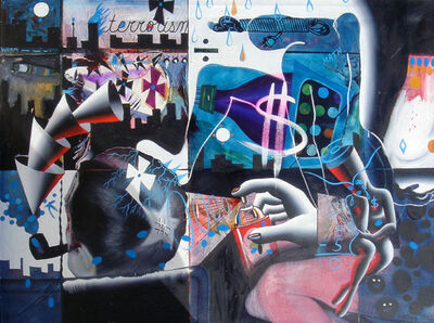 Mark Kostabi, 'The Bad Poetry of the Grid', 1987-1989