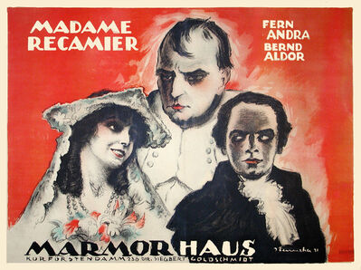 Josef Fenneker, 'Madame Recamier - Madam Bovary - Napoleon - Marmorhaus', 1920