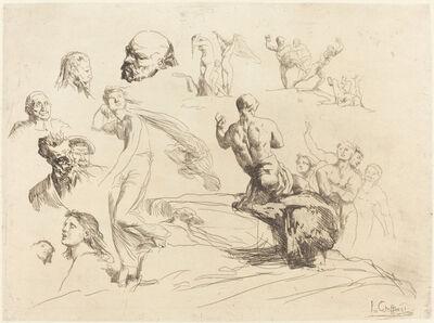 François-Nicolas Chifflart, 'Sketch Sheet', 1865