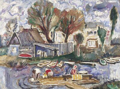 Vadim Semenovich Velichko, 'Washing clothes in the river', 1970