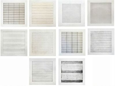 Agnes Martin, 'Paintings and Drawings', 1991