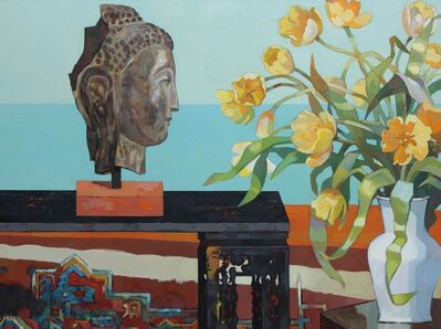 Huang Duo Ling 黄多玲, 'Buddha and Tulips', 2016