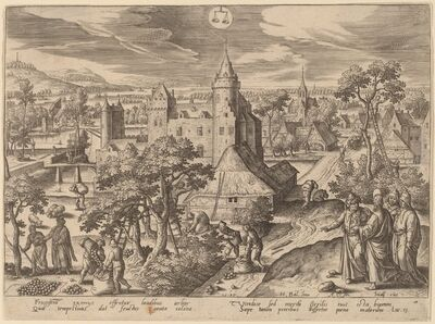 Adriaen Collaert, 'The Parable of the Fig Tree (Libra)', 1585