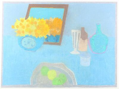 Bernard Myers, 'Still life with daffodils, jugs and apples'
