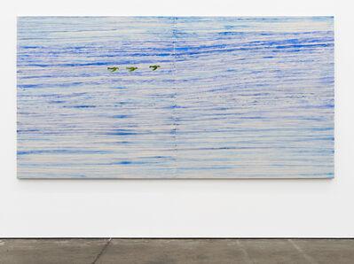 Chris Johanson, 'Serenity Painting No. 2 (Birds, Sky)', 2018