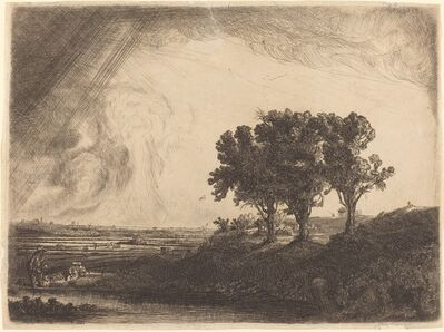 William Byron after Rembrandt van Rijn, 'The Three Trees', 18th century