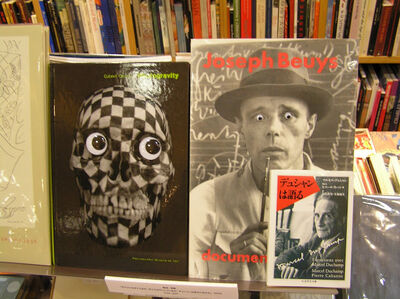 Orozco stares at Beuys, Beuys stares at Duchamp, Duchamp stares at you