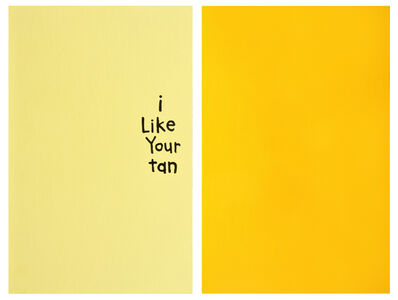 "Cary Leibowitz (""Candy Ass""), 'I Like Your Tan', 2013"