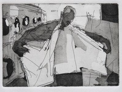 Dena Schutzer, 'Laundromat, Man/Wings', 2017