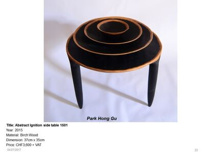 Abstract Ignition Side Table