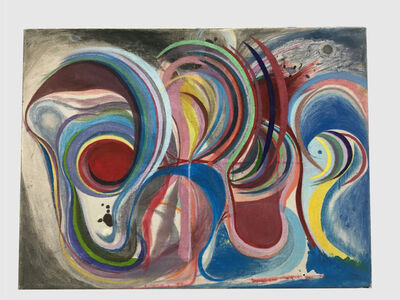 Chris Johanson, 'Homeostasis Painting #3 (Carefully Considering)', 2019