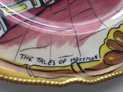 "Rare ""The Tales of Hoffman"" Opera Plate"