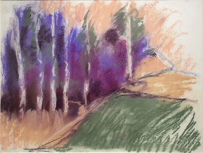 Nancy Rutter, 'Violet Birches in Early Morn', 2016