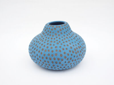 Untitled (Blue spotted gourd)