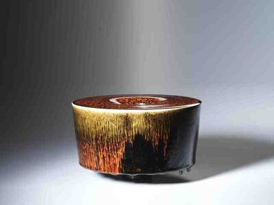 Oxblood over Temmoku Glaze