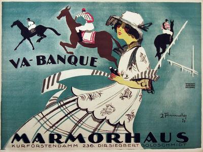 Josef Fenneker, 'Va-Banque - Marmorhaus Theater - Film on Horse Jumping', 1920