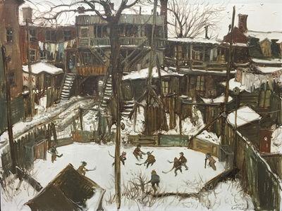 Patinoire d 'autrefois à Pointe-St-Charles Montreal