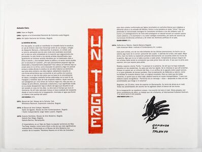Antonio Caro, 'Un Tigre', 2017