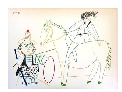 "Pablo Picasso, 'Lithograph ""Human Comedy IV"" after Pablo Picasso', 1954"