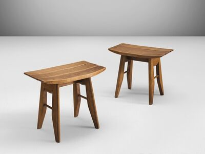 Guillerme et Chambron, 'Pair of Stools', ca. 1960