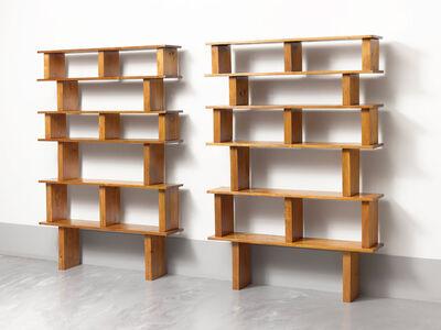 Pair of pine bookshelves