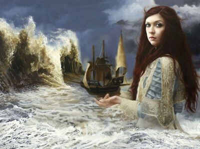 Try as they might they could not resist her crashing waves