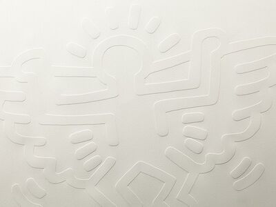 Keith Haring, 'White Icons (C) - Winged Angel', 1990