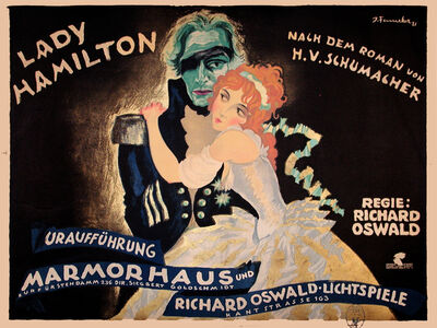 Josef Fenneker, 'Lady Hamilton - Marmourhaus Theater', 1921
