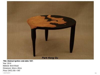 Abstract Ignition side table  1601