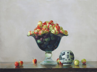 Crystal Vase with apples