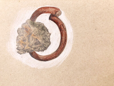 Abraham González Pacheco, 'Dibujo 34g, de la serie Yacimiento 34 / Drawing 34g, of the series Yacimiento 34', 2018