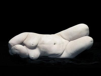 Elizabeth with elbows hiding face, 2012