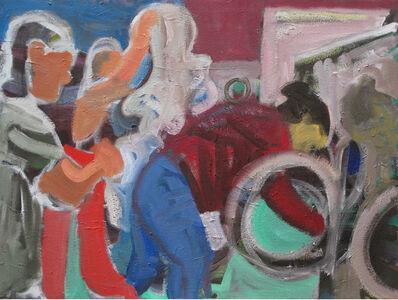 Dena Schutzer, 'Laundromat, Three Figures', 2018