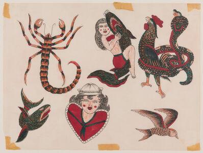 Rosie Camanga, 'Untitled (Scorpion, woman fighting shark)', ca. 1950-1960
