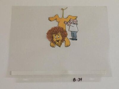 """Original Animation Cel from PIERRE, """"I DONT CARE"""" (CBS 1970s)"""
