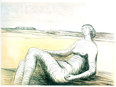 Henry Moore, 'Reclining Figure (plate 3)'