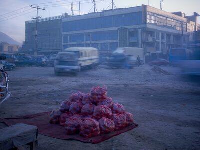 Pakistani Apples For Sale At A Roadside Market