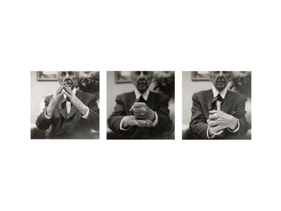 Pedro E. Guerrero, 'Frank Lloyd Wright, Demonstrating Organic Architecture, Suite of Three Prints (#11, #2, #8)', 1953