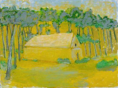 Wolf Kahn, 'Silver Foliage Around a Barn', 2018