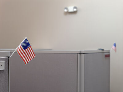 Belvedere I: Cubicles at The Mackinac Center for Public Policy, Midland, Michigan