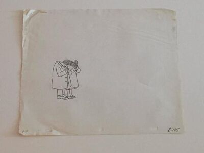 """Original Pencil Drawing from PIERRE, """"I DONT CARE"""" (CBS 1970s)"""