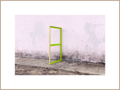 Green Stretcher on a Pink Wall  #2/2