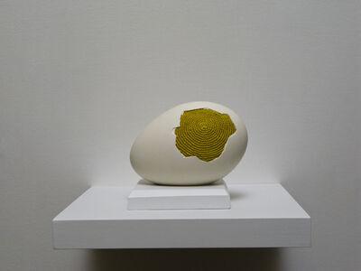 Esther Traugot, 'Patched egg (goose egg 1)', 2017