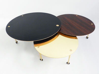 Extendable Rolling Coffee Table Model SFG13, Limited Edition of Five